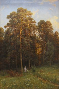 ivan shishkin paintings | At the edge of a pine forest