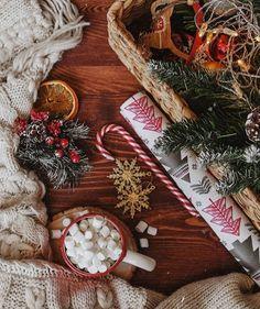 Christmas Feeling, Noel Christmas, Christmas Is Coming, Little Christmas, Christmas And New Year, Winter Christmas, Natural Christmas, Christmas Coffee, Christmas Flatlay