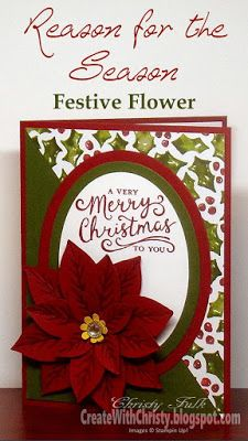 Create With Christy: Reason for the Season Festive Flower