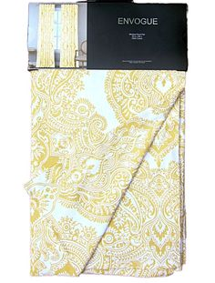 Envogue Yellow White Damask Medallions Window Panels Drapes Set of 2 52 by 96 #Envogue #Contemporary