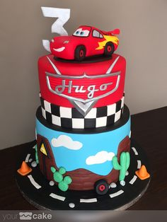 Your Cake. Tarta Rayo McQueen. Cars