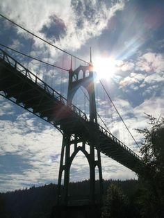 Best looking bridge in bridgetown!  Portland has one of every kind of bridge crossing the Willamette.