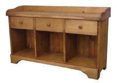 Canadian handmade solid wood furniture crafted by local Ontario craftsman. Affordable and stylish rustic pine furniture made in Canada. Canadian Woodcraft provides simple, functional, classic handmade furniture designs for your home. Rustic Pine Furniture, Solid Wood Furniture, Handmade Furniture, Cubbies, Shelves, Entryway Shelf, Real Wood, Furniture Making, Wood Crafts