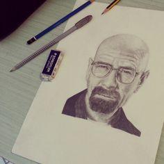 #Portrait #Pencils #Heisenberg #WalterWhite #BreakingBad #BryanCranston #Tvseries