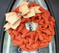 Rust burlap wreath