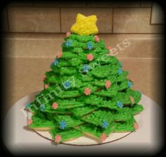 Christmas tree made of sugar cookies