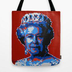 Lego Queen Elizabeth Tote Bag by Horseaholic - $22.00