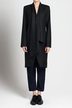 @iikonee shawl collar coat