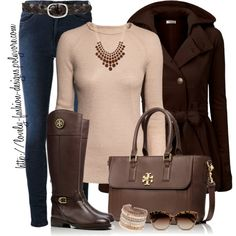 """""""~♥~ Fall in Brown ~♥~"""" by lovely-fashion-designs on Polyvore"""