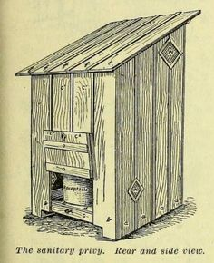 1909 outhouse with supply list and framing plans