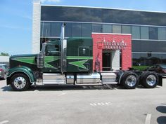 "Look at this beauty! It is a fully approved and Movin' On authorized 2017 Kenworth W900L with our iconic paint scheme and a very special exhaust heat shield. It has a Cummins ISX15 560 and a 72"" sleeper. It is available from Truckworx, a Kenworth dealership with seven locations in Alabama and Mississippi. Call Truckworx for a quote, (205) 326-6170. Let's put the big green truck back on America's roads!"