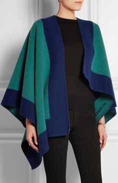 Trending Fall 2014 - Capes: BURBERRY SHOES & ACCESSORIES Wool and cashmere-blend cape