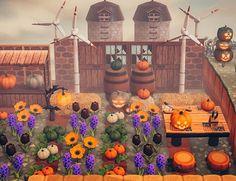 Pumpkin Farm, Spooky Pumpkin, Animal Crossing Pc, All About Animals, Animal Games, Island Design, New Leaf, Farm Animals, Decoration
