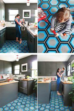 amazing graphic floor tiles!