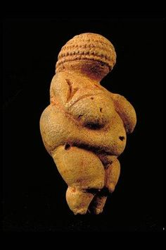 Venus of Willendorf - prehistoric art- 24,000-22,000 BCE, red ochre & limestone