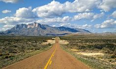Main highway in Guadalupe Mountains National Park, Texas