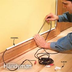 How to Hide Wiring: Speaker and Low-Voltage Wire | The Family Handyman