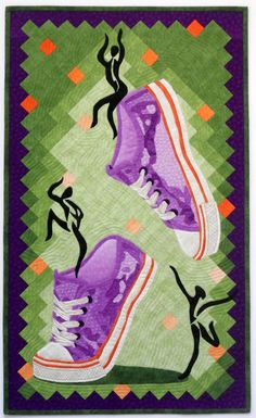 Dare to Dance art quilt in a book by Mary W. Kerr