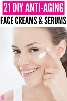 Whip up these simple DIY Wrinkle Creams and Anti-aging Serums in a jiffy. They might just work better than those expensive brands! Face Cream For Wrinkles, Face Creams, Anti Aging Serum, Best Face Products, Beauty Products, Diy Products, Wrinkle Creams, Anti Wrinkle, Face Serum