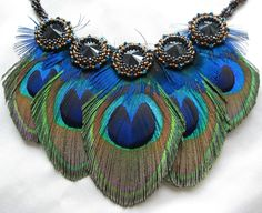 Angelica Peacock Collar. $128.00, via Etsy.