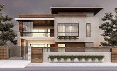 Bungalow House Design, House Front Design, Modern House Design, Modern Contemporary House, Simple Home Design, House Outer Design, Modern Minimalist House, Design Exterior, Modern Exterior