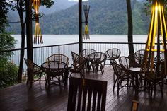 Stunning views from the terrace of the Belum Rainforest Resort in Royal Belum State Park. Great place to chill out for a bit after a day of adventure.