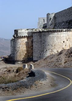Homs, Syria. Krak Des Chevaliers Krak Des Chevaliers, Unique Buildings, Beautiful Buildings, Syria Before And After, Syria Flag, Egypt Museum, Trinidad Carnival, Castle House, Walled City