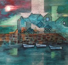 Take a look at this recent entry to our competition by Jenny Harris - Paint a seascape or harbour scene to win copies of David Bellamy books from Search Press Painting Competition, Seascape Paintings, England, Scene, Gallery, Artist, Roof Rack, Artists, Ocean Drawing