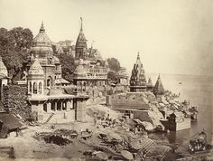 Photograph of Varanasi and the River Ganges, 1860s