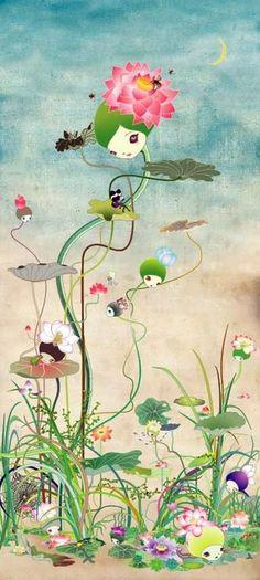 illustration by Chiho Aoshima Illustrations, Illustration Art, Superflat, Pop Surrealism, Art For Art Sake, Japanese Artists, Asian Art, Art Inspo, Modern Art