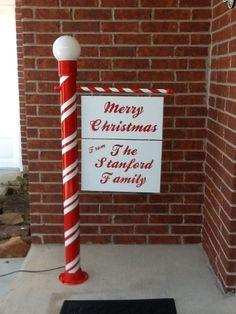 Merry Christmas Pole with light.JPG
