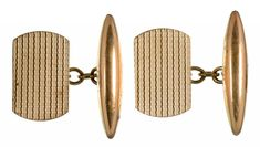 A PAIR OF 9CT GOLD CUFFLINKS, 4.1G.  Sold @ Mellors & Kirk