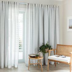 Ashley Moonlight - Readymade Sheer Pencil Pleat Curtain - Curtain Studio buy curtains online
