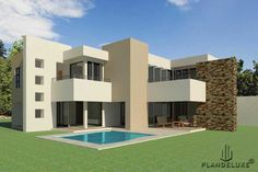 double story 4 bedroom house plans for sale online. Explore 4 bedroom modern house plans with photos and 4 bedroom double story house plans pdf. House Floor Design, Country House Design, Modern House Design, 4 Bedroom House Designs, 4 Bedroom House Plans, House Plans For Sale, House Plans With Photos, Contemporary House Plans, Modern House Plans