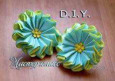 Flower for Headband Ribbon Art, Diy Ribbon, Fabric Ribbon, Ribbon Crafts, Flower Crafts, Ribbon Bows, Fabric Crafts, Diy Crafts, Ribbon Flower