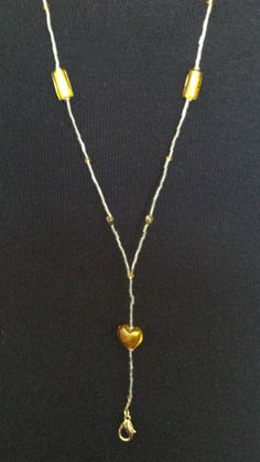 Gold & Silver Beaded Lanyard by liverbitz on Etsy, $15.00