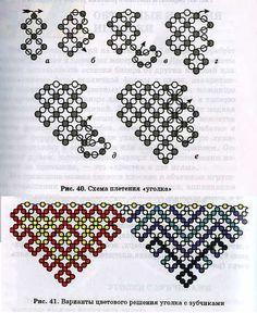 техника плетения уголков из бисера