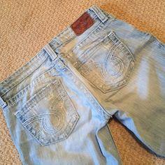 "Big Star ""Liv"" jeans Big Star distressed Liv jeans size 30 L boot cut hip slung. Buckle. Vintage wash. Big Star Jeans Boot Cut"