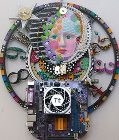 Time To Reach For The Stars recycled found object by kerijoy, $525.00