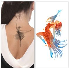 passionate dancer tattoo on nape