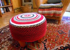 crochet cover for the footstool