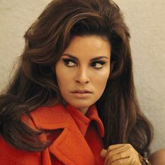 If I could have any hair and makeup, it would be Raquel Welch's.  Actually, I think she looks like my mom in the 70s here:)