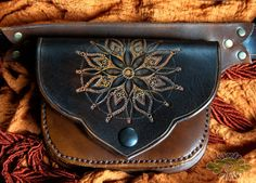 dOuble LeAthEr BeLt bAg  hand tooled sewn and by LivitVivid, €245.00