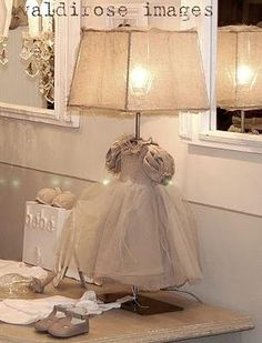 Repurpose an antique baby dress into lamp - sweet inspiration!