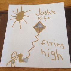 """Joshua made a kite in honor of your Zachary It is called """"Flying High"""" May your child's  memory be a blessing. A Blessing, Beautiful Butterflies, Beautiful Children, Kite, Your Child, Congratulations, Blessed, Campaign, Butterfly"""