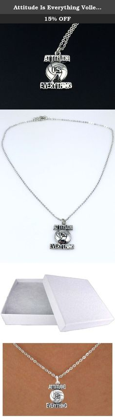 Attitude Is Everything Volleyball Charm Necklace in Regular Chain. Attitude Is Everything Volleyball Charm Necklace in Regular Chain Known to be the best gift for a Volleyball players. Suprise your family on their Birthday or Graduation with this perfect gift. Beautiful volleyball gift for girls and it comes in an elegant cotton-filled jewelry box so pretty easy to store. It's lead & nickel free so no irritation to sensitive skin. They can wear it at any occassion or casually while doing...