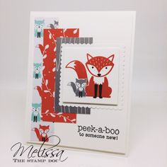 Stampin' UP! Foxy Friends by Melissa Stout