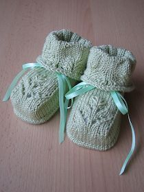 Free baby knitting patterns: Baby knitting: knitted baby booties