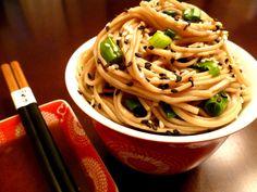 asian noodle salad recipe | Sesame Asian Noodles