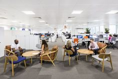 Breakout relaxation areas at Informa office designed by Ben Adams Architects.